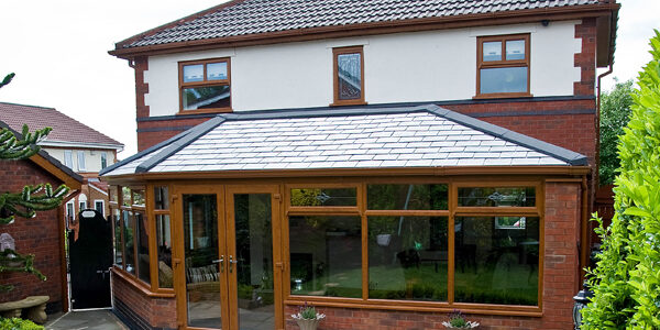 modern brown upvc conservatory
