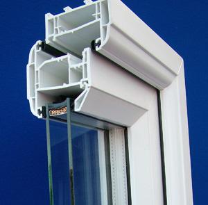 DOuble GLazed UPVC Window profile view